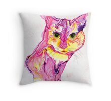 Cat Eyes Abstract by Deb Breton Throw Pillow