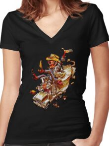 Jerry and the Bandit. Awesome mashup. Women's Fitted V-Neck T-Shirt