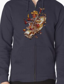 Jerry and the Bandit. Awesome mashup. Zipped Hoodie
