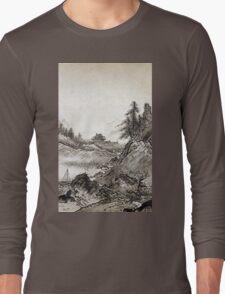 Sesshū Tōyō Autumn Landscape Long Sleeve T-Shirt