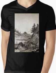 Sesshū Tōyō Autumn Landscape Mens V-Neck T-Shirt