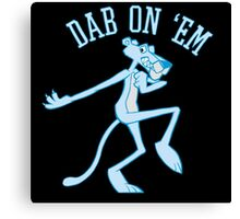 Dab On 'Em Panther Canvas Print