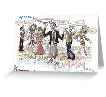 Hungry Zombies Greeting Card