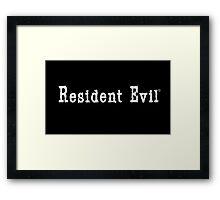 Resident Evil Logo Framed Print
