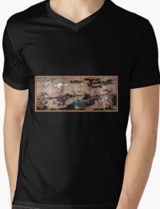 Kanō Hideyori Maple Viewers Mens V-Neck T-Shirt