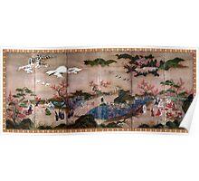 Kanō Hideyori Maple Viewers Poster