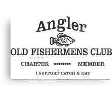 Old Fishermens Club Logo Canvas Print