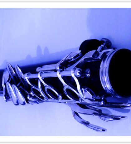 Blue Clarinet Sticker