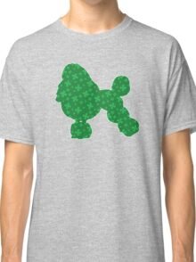 Poodle, Green St. Patrick's Shamrock Pattern Classic T-Shirt