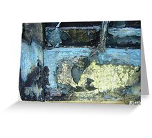 Pealing Paint Abstract  Greeting Card