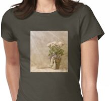 White Roses In The Light Womens Fitted T-Shirt