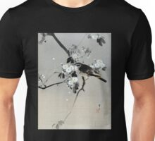 Watanabe Seitei Bird on a Flowering Branch Unisex T-Shirt