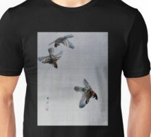 Watanabe Seitei Sparrows Flying Unisex T-Shirt