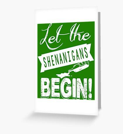 Saint Patricks Day Shenanigans Greeting Card