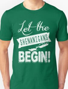 Saint Patricks Day Shenanigans Unisex T-Shirt