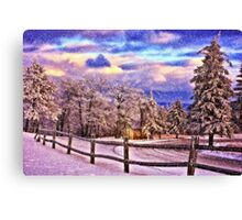 On Top Of Old Blue Knob Canvas Print