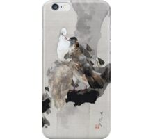 Watanabe Seitei Pigeons in a Tree iPhone Case/Skin
