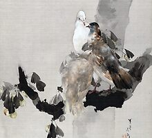 Watanabe Seitei Pigeons in a Tree by pdgraphics