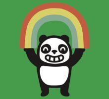 Panda Found A Rainbow Baby Tee