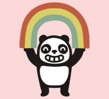 Panda Found A Rainbow Kids Tee