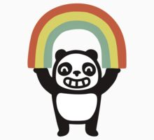 Panda Found A Rainbow Kids Tee