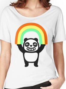 Panda Found A Rainbow Women's Relaxed Fit T-Shirt