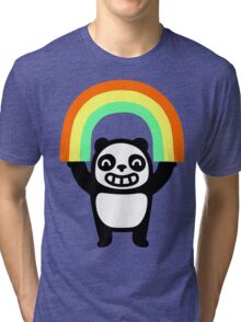 Panda Found A Rainbow Tri-blend T-Shirt