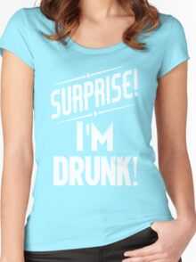 Surprise I'm Drunk St Paddys Day Women's Fitted Scoop T-Shirt