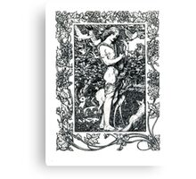 Orpheus with his lute made trees Canvas Print