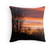 Sunrise on the Blue Ridge Parkway Throw Pillow