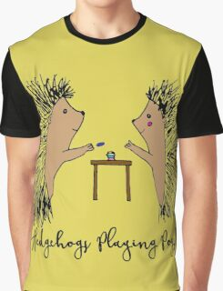 Hedgehogs Playing Pogs  Graphic T-Shirt