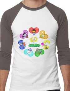 Undertale - Hearts with Characters Men's Baseball ¾ T-Shirt