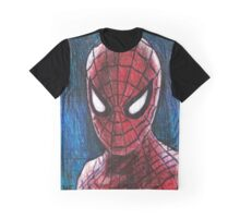 Spiderman in Prismacolor Graphic T-Shirt
