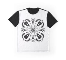 White and Black graphic T-Shirt  Graphic T-Shirt