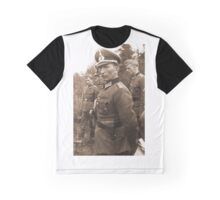 WW2 German Prussian Soldier with Totenkopf on Visor Cap Graphic T-Shirt