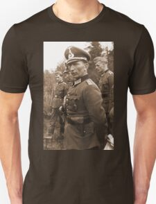 WW2 German Prussian Soldier with Totenkopf on Visor Cap T-Shirt