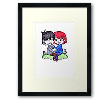 Do you remember our first time? Framed Print