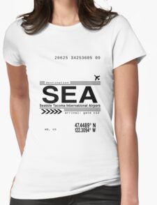 Seattle Tacoma International Airport Call Letters Womens Fitted T-Shirt