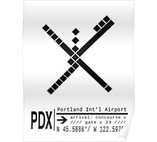 PDX Portland International Airport Call Letters and Carpet Design Poster
