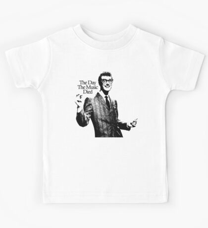 BUDDY HOLLY : THE DAY THE MUSIC DIED Kids Tee