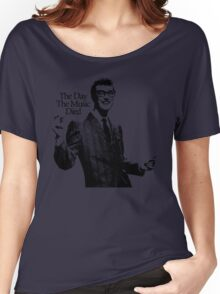 BUDDY HOLLY : THE DAY THE MUSIC DIED Women's Relaxed Fit T-Shirt