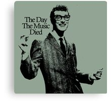 BUDDY HOLLY : THE DAY THE MUSIC DIED Canvas Print
