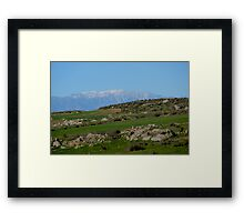 SoCal backcountry landscape - Winter 2016 Framed Print