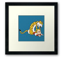 CALVIN & HOBBES : CATCH YOU! Framed Print