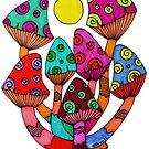Full Moon Mushrooms by Octavio Velazquez