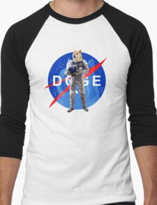 Doge Astronaut In Space Men's Baseball ¾ T-Shirt