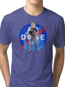 Doge Astronaut In Space Tri-blend T-Shirt