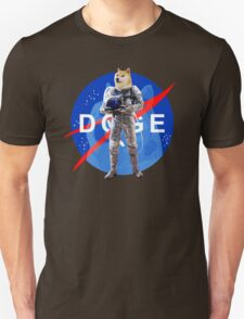 Doge Astronaut In Space Unisex T-Shirt
