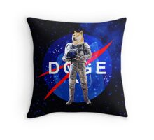 Doge Astronaut In Space Throw Pillow