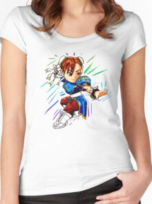 STREET FIGHTER : CHUN LI Women's Fitted Scoop T-Shirt